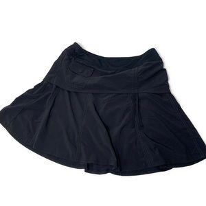 Athleta Solid Black Mini Athletic Skort Skirt